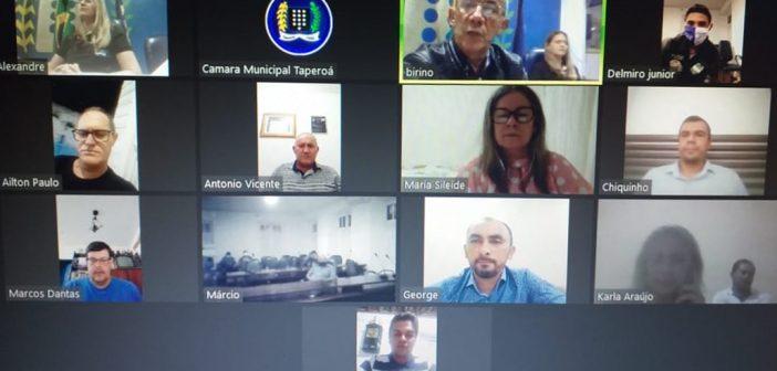 Câmara realiza primeira sessão virtual por videoconferência